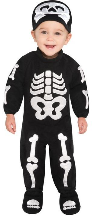 Kids Cute Skeleton Bones Girls / Boys Halloween Fancy Dress Baby Costume Outfit Thumbnail 1