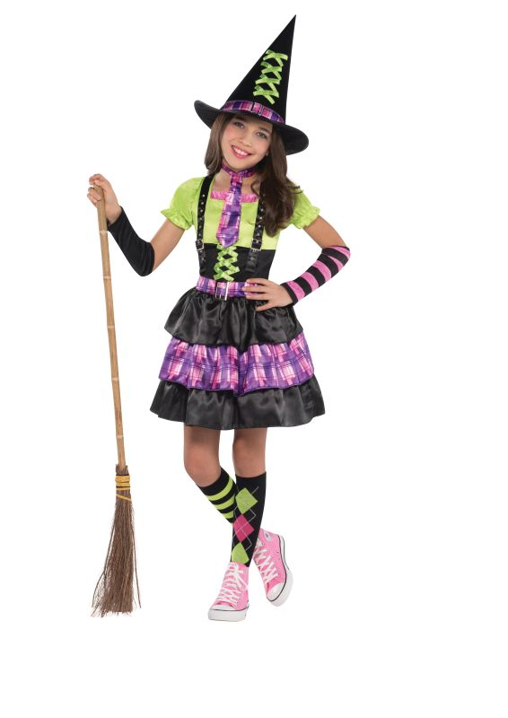 SALE! Kids Spellbound Witch Halloween Party Fancy Dress Childs Costume Outfit