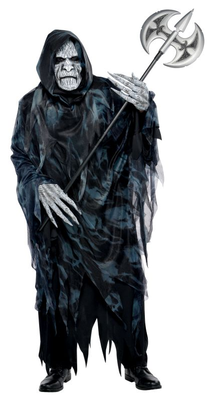 Mens Halloween Soul Taker Costume Gents Halloween Fancy Dress Outfit