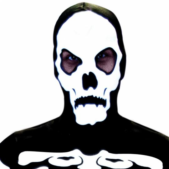 SALE Adult Skeleton Bones Mens Halloween Horror Fancy Dress Costume Party Outfit Thumbnail 2