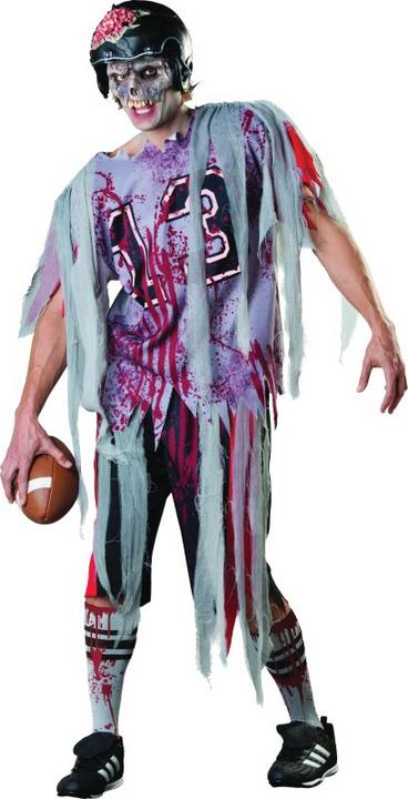 Adult Walking Dead American Football Zombie Mens Halloween Fancy Dress Costume  Thumbnail 1