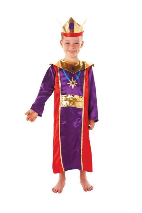 Boys Nativity King Fancy Dress Costume  Thumbnail 1