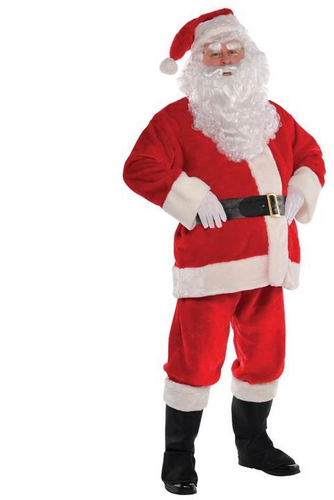 Plus Size Santa suit Fancy Dress costume  Thumbnail 1