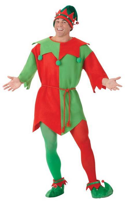 Adult Unisex Elf Tunic  Fancy Dress Costume Thumbnail 1