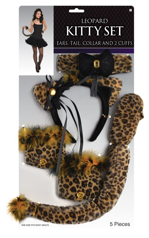Ladies Leopard Kitty Set
