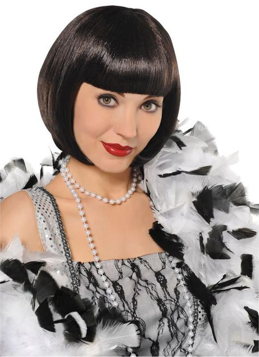 Womens 1920s Black Flapper Wig Thumbnail 1