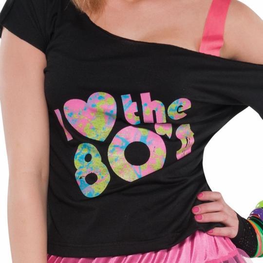 Women's  I Love The 80s Tshirt  Thumbnail 1