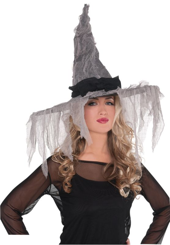 Womens  Tattered Witch Hat