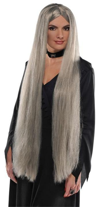 Adult Sexy Long Witch Wig Ladies Halloween Party Fancy Dress Costume Accessory Thumbnail 1