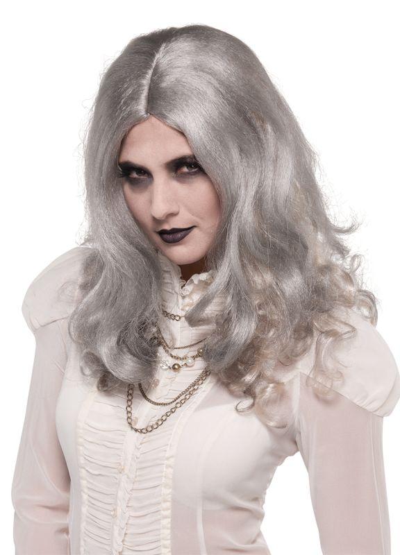 Sexy Walking Dead Zombie Gray Wig Ladies Halloween Fancy Dress Costume Accessory
