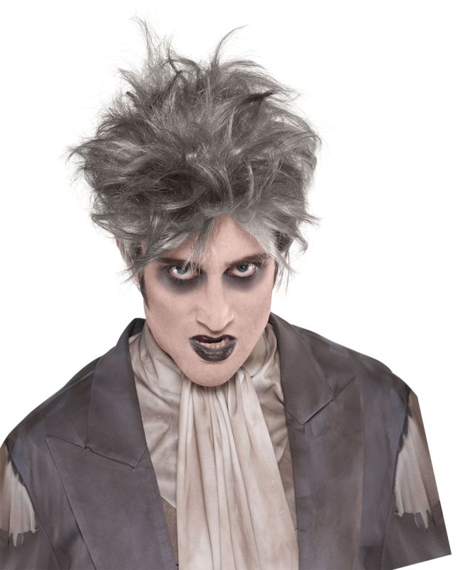 Adult Walking Dead Zombie Wig Mens Halloween Party Fancy Dress Costume Accessory