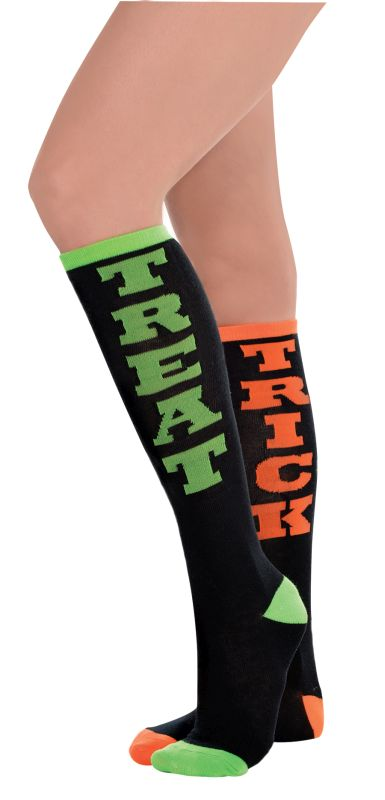 Womens Socks Trick Treat Knee High
