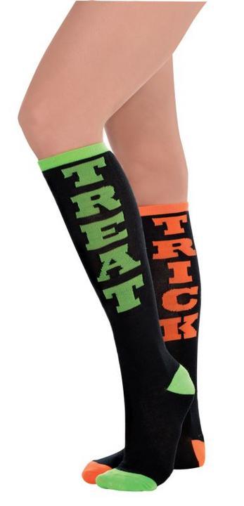 Womens Socks Trick Treat Knee High Thumbnail 1
