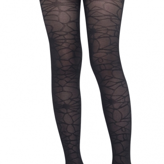 Girls Spiderweb Blck tights  Thumbnail 1