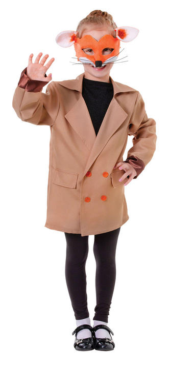 Boys Book Week Fox Jacket Kids Fancy Dress Outfit Thumbnail 2