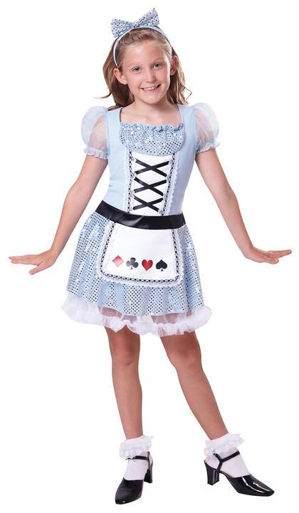 Kids Card Deck Girls Book Week Fancy Dress Childs Costume Alice In Wonderland Thumbnail 1