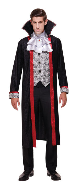 Mens Halloween Vampire Duke Cape Costume Gents Halloween Fancy Dress Outfit Thumbnail 1
