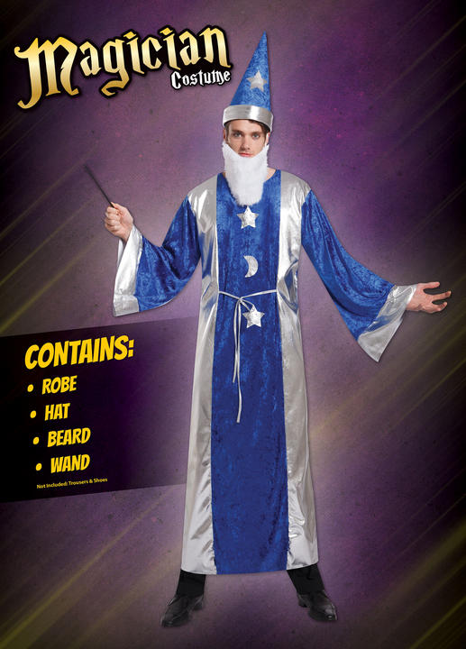 Mens Magican Robe Fancy Dress Costume  Thumbnail 1
