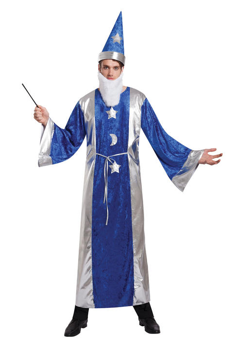 Mens Magican Robe Fancy Dress Costume  Thumbnail 2