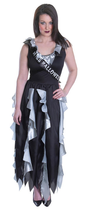 Women's  Zombie Prom Queen Fancy Dress Costume  Thumbnail 1