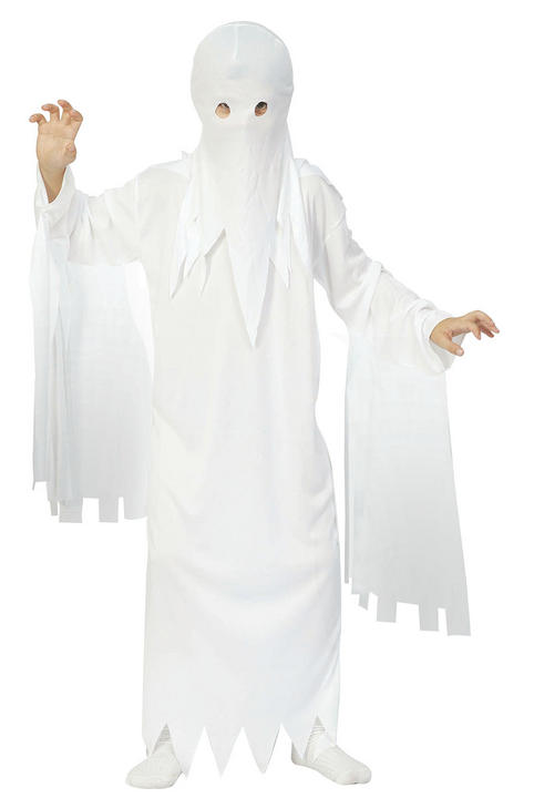 Kids Spooky Ghost Ghoul Boys Halloween Party Fancy Dress Childs Costume Outfit Thumbnail 1