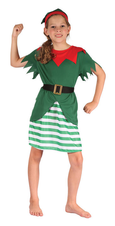 Girls Santa Helper Costume Thumbnail 1