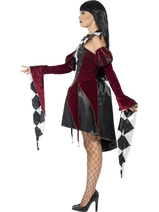Adult Sexy Gothic Venetian Harlequin Ladies Halloween Fancy Dress Costume Outfit Thumbnail 3