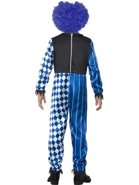 Kids Deluxe Sinister Circus Evil Clown Boys Halloween Fancy Dress Childs Costume Thumbnail 2