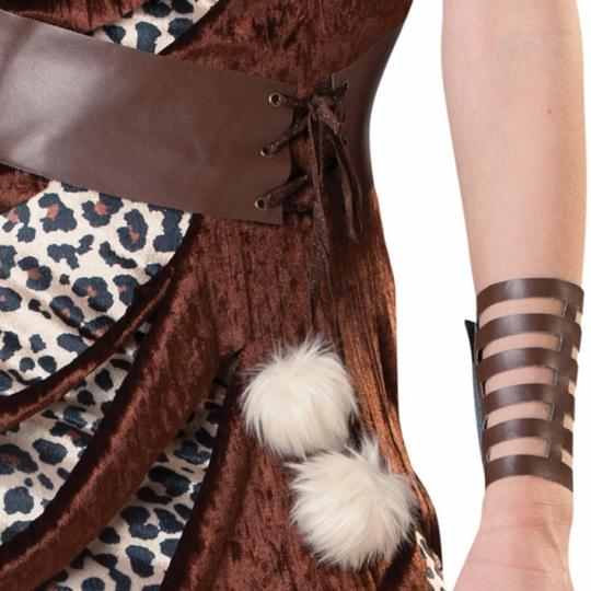 Cavewoman Costume Leopard Ladies Prehistoric Fancy Dress Hen Night Party Outfit Thumbnail 3