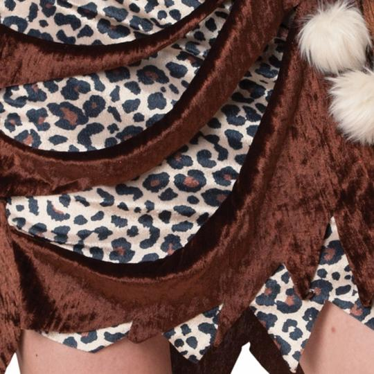 Cavewoman Costume Leopard Ladies Prehistoric Fancy Dress Hen Night Party Outfit Thumbnail 4