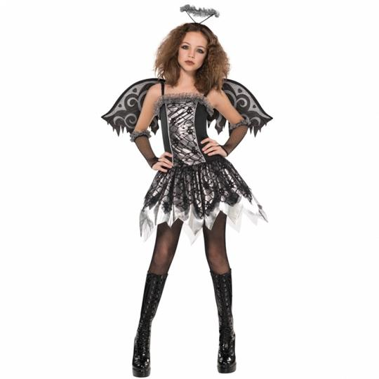 SALE! Teen Fallen Angel Girls Halloween Party Fancy Dress Childs Costume Outfit Thumbnail 1