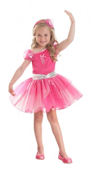 Barbie Ballerina Fuchsia Fancy Dress Costume  Thumbnail 1