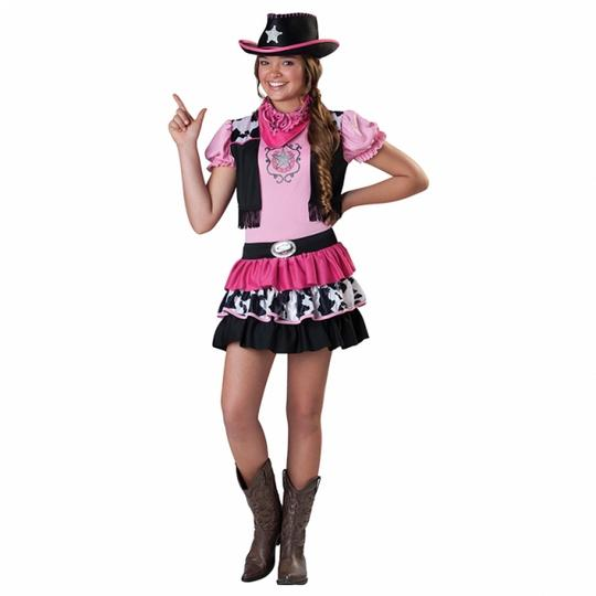 Giddy Up Girl Cowboy Fancy Dress Costume  Thumbnail 1