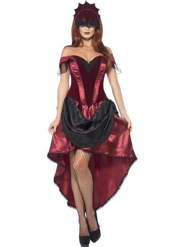 Adult Sexy Venetian Burlesque Temptress Ladies Halloween Fancy Dress Costume  sc 1 st  Wonderland Party & Adult Sexy Venetian Burlesque Temptress Ladies Halloween Fancy Dress ...