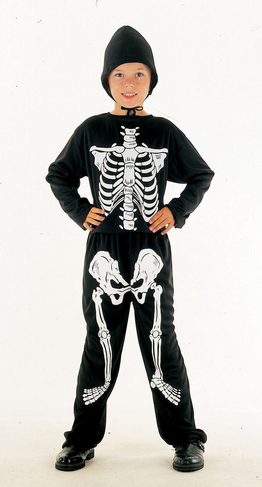 SALE Kids Spooky Skeleton Bones Boys Halloween Fancy Dress Childs Costume Outfit