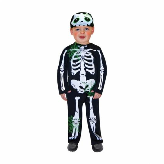 SALE Kids Skeleton Bones Boys Halloween Party Fancy Dress Toddler Costume Outfit Thumbnail 1