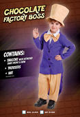 Boys Book Week Chocolate Factory Boss Costume Kids Fancy Dress Outfit