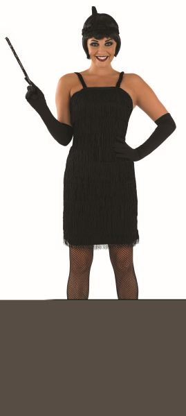 Roaring 20s Girl Fancy Dress Costume Black  Thumbnail 1