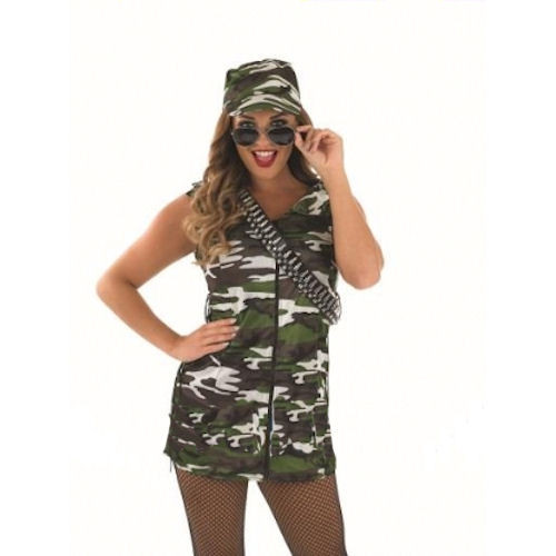 Army Girl Fancy Dress Costume Thumbnail 1