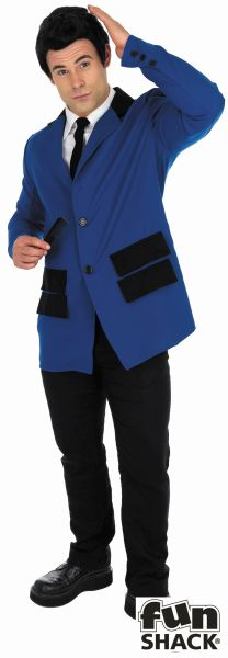 Blue teddy Boy Men's Fancy Dress Costume Thumbnail 1