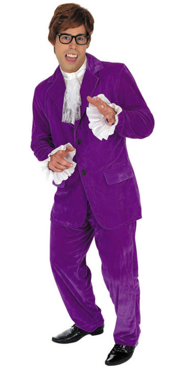 60s Purple Gigolo Fancy Dress Costume Thumbnail 1