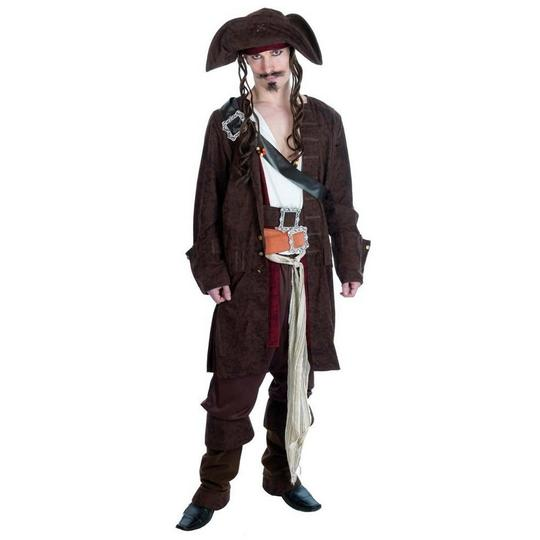 Rum Smuggler Pirate Fancy Dress Costume Thumbnail 1