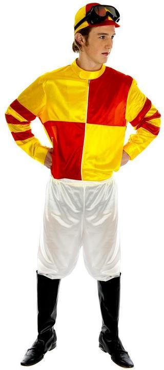 Red and Yellow Jockey Fancy Dress Costume Thumbnail 1