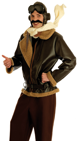 Wartime Fighter Pilot Fancy Dress Costume Thumbnail 1