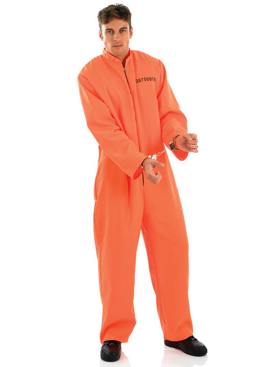 Male Prisoner Fancy Dress Costume Thumbnail 1