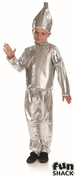 SALE! Child Tin Man Costume Boys Wizard of Oz Book Week Day Fancy Dress Outfit Thumbnail 2