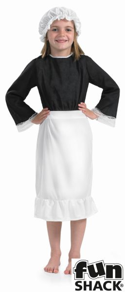 Girls Victorian Hat and Apron Set  Thumbnail 1