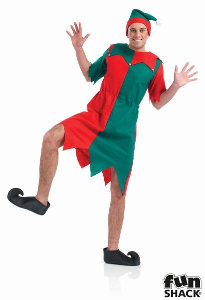 Mens Elf Fancy Dress Costume