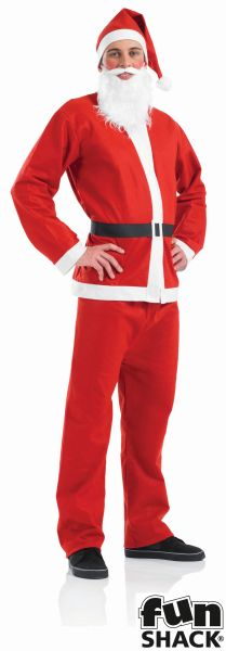 Santa Suit Men's Fancy Dress Costume