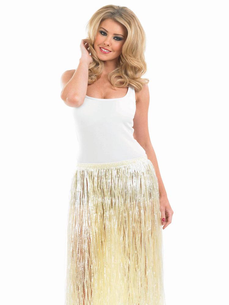 Women's Hawaiian Natural  Look Grass Skirt